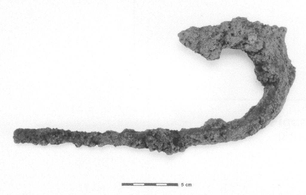 Hameçon à requin produit à la forge. Alain Chouinard, Archéologie et archéométallurgie de la forge…, 2001.