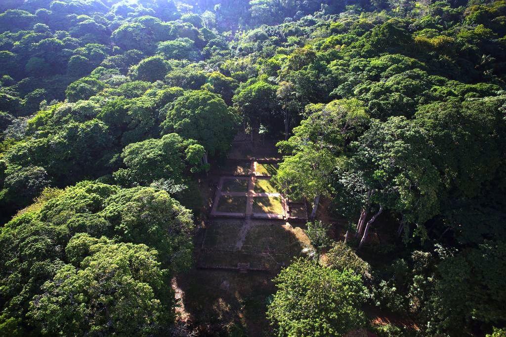 Depuis 1994, les archéologues travaillent avec acharnement à dégager les vestiges de Loyola envahis par la forêt.